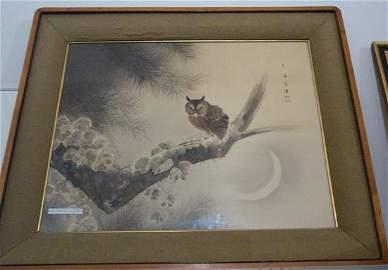 186: 3 framed art works,ROOM SCENE,JAPANESE G
