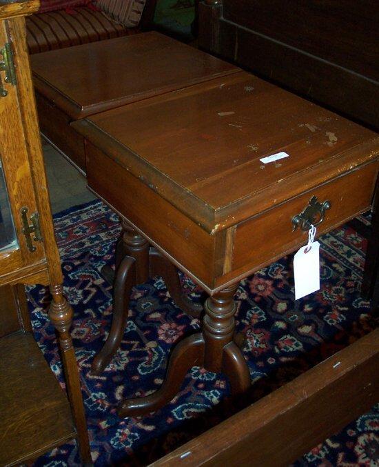 512: PAIR OF GEORGE II STYLE WALNUT SIDE TABL