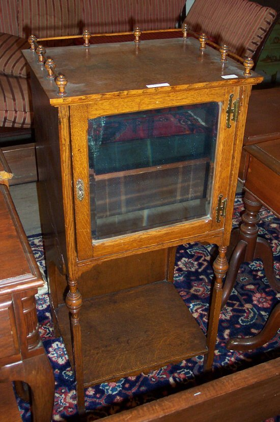 513: CONTINENTAL OAK TOBACCO STAND early 20th