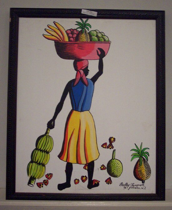 524: O/C Lady with Fruit by Headly Thompson