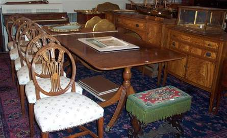 665: ENGLISH STYLE DINING ROOM SUITE 20th cen