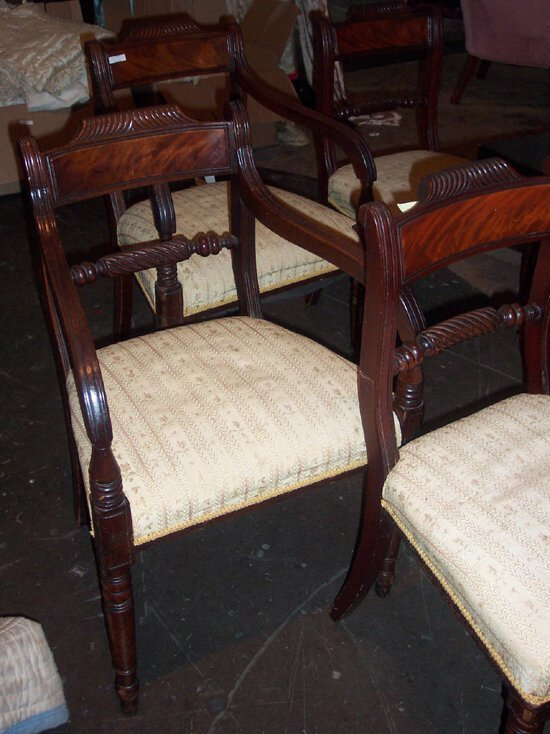788A: SET OF SEVEN GEORGE IV MAHOGANY DINING