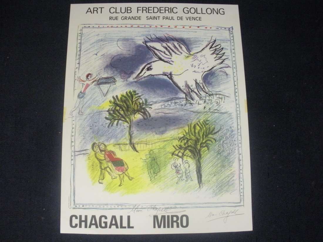 Hand Signed Show Poster - Marc Chagall