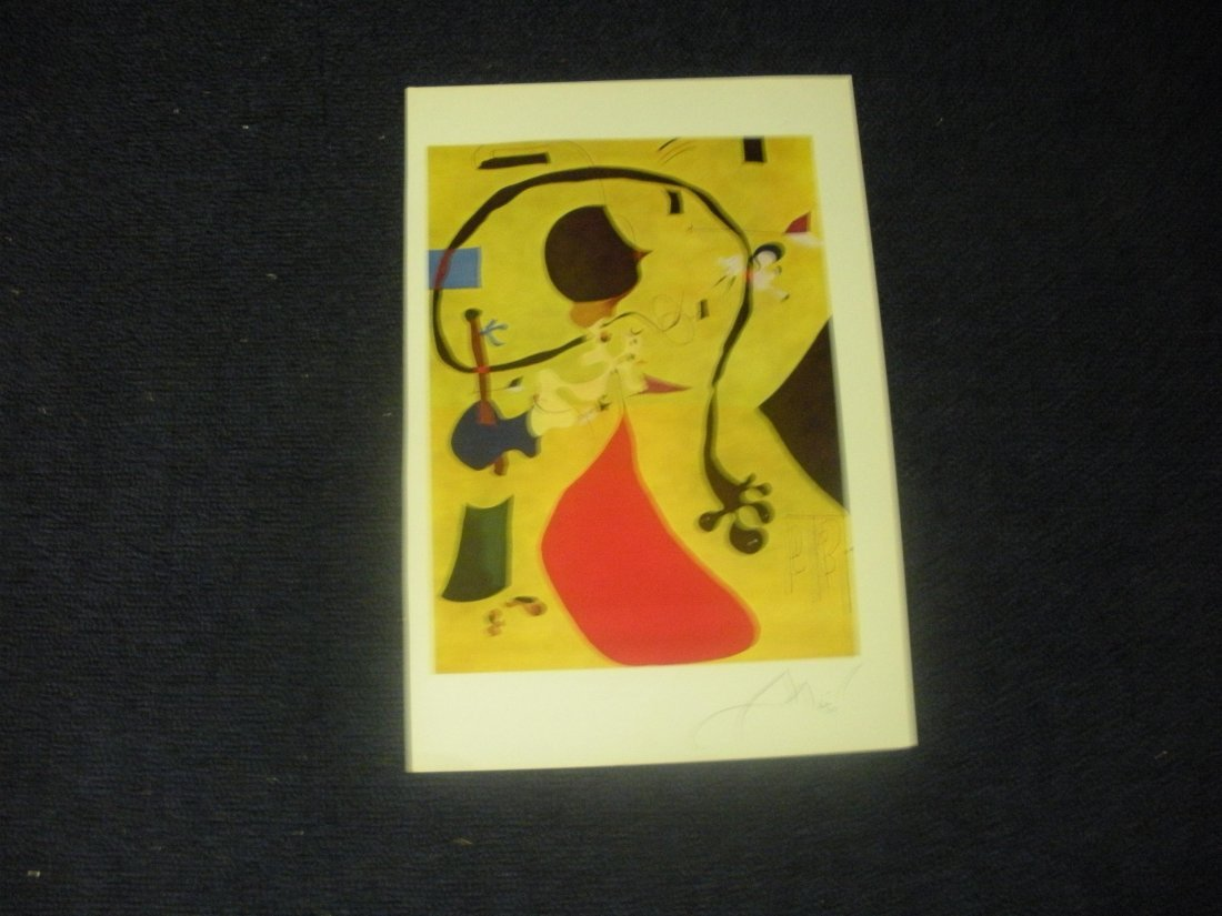 Book page hand signed by Joan Miro