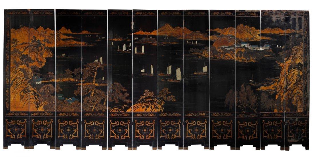 Chinese Coromandel Screen Panel