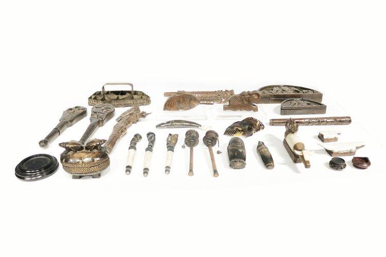 Assorted Antique Wooden Decors