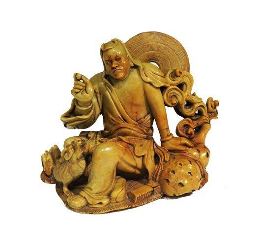 Soft Stone Man with Dragon