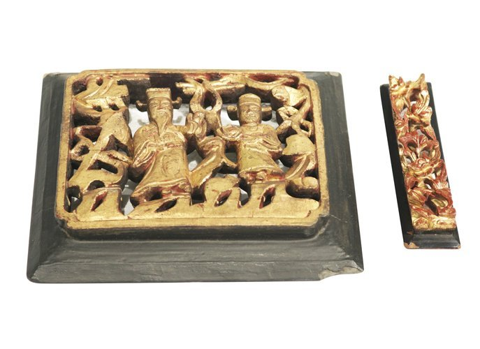 Pair of Temple Carving