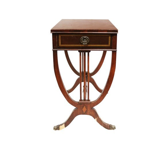 Side Table with Metal Legs