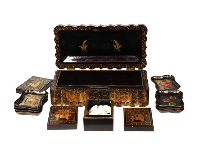 Chinese Lacquered Game Box