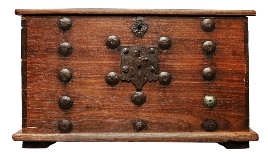 Spanish Colonial Chest with Original Metal Work