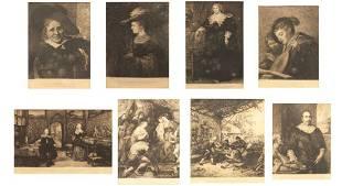 8 Antique Prints