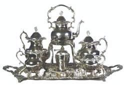 A 14-Piece Silver Plated Tea Set