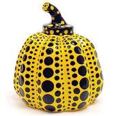 Yayoi Kusama (b. 1929) - Yellow and Black Pumpkin
