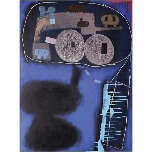 Christian Tamondong (b. 1976)  Blue Abstract