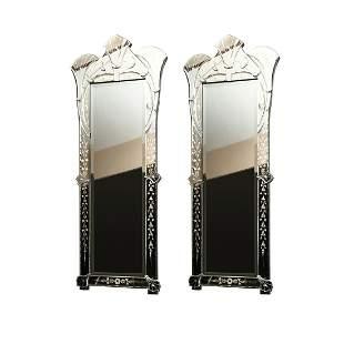 A Pair of Venetian Mirrors