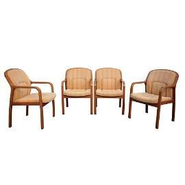 A Set of 4 Tendo Mokko Chairs (model T-5344NA-ST)
