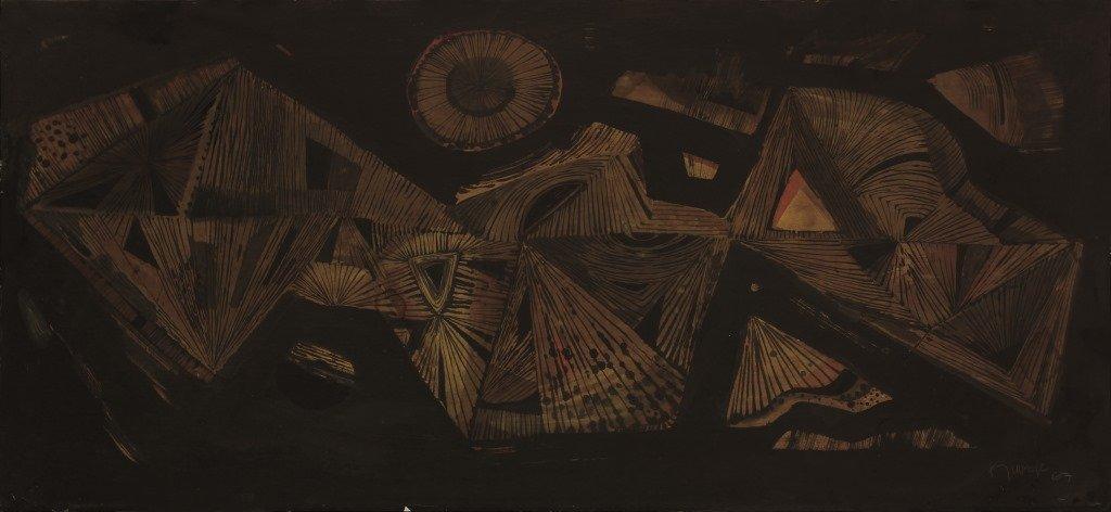 Ang Kiukok 1931 - 2005 Untitled 1967 Tempera Signed and
