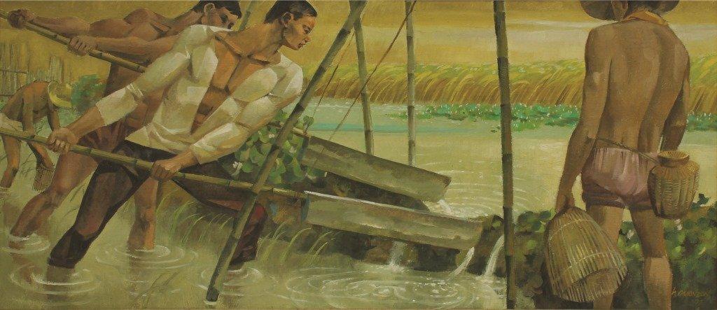 Hugo Yonzon 1924-1994 Brasong Mamon 1977 Signed and
