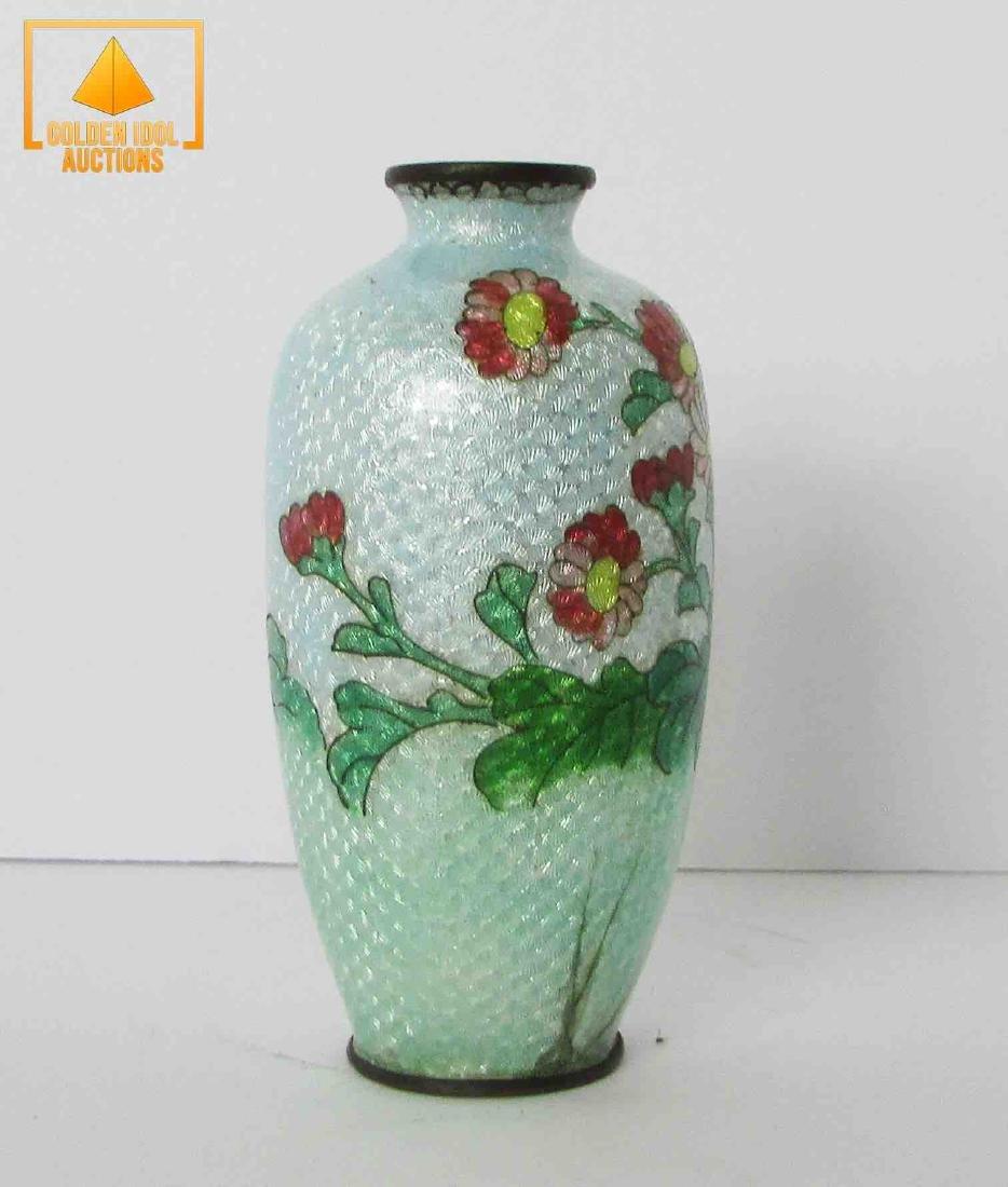 Antique japanese Ginbari cloisonne enamel