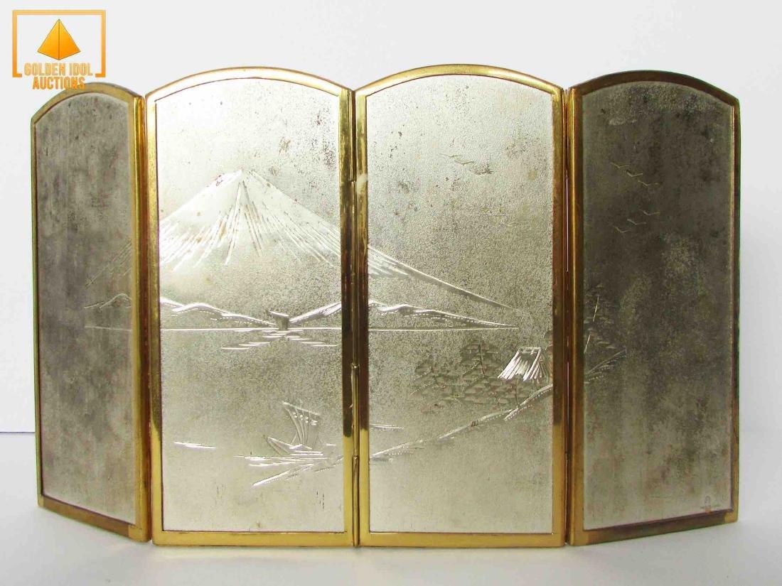Old japanese cloisonne Four Pannels - 3