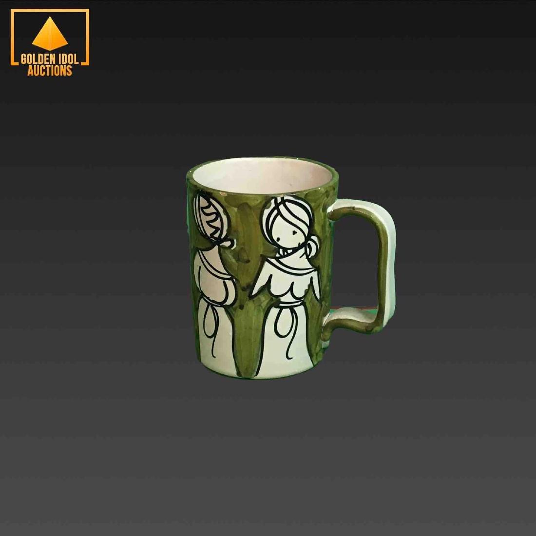 Ceramic marked italy coffee mug singed I M