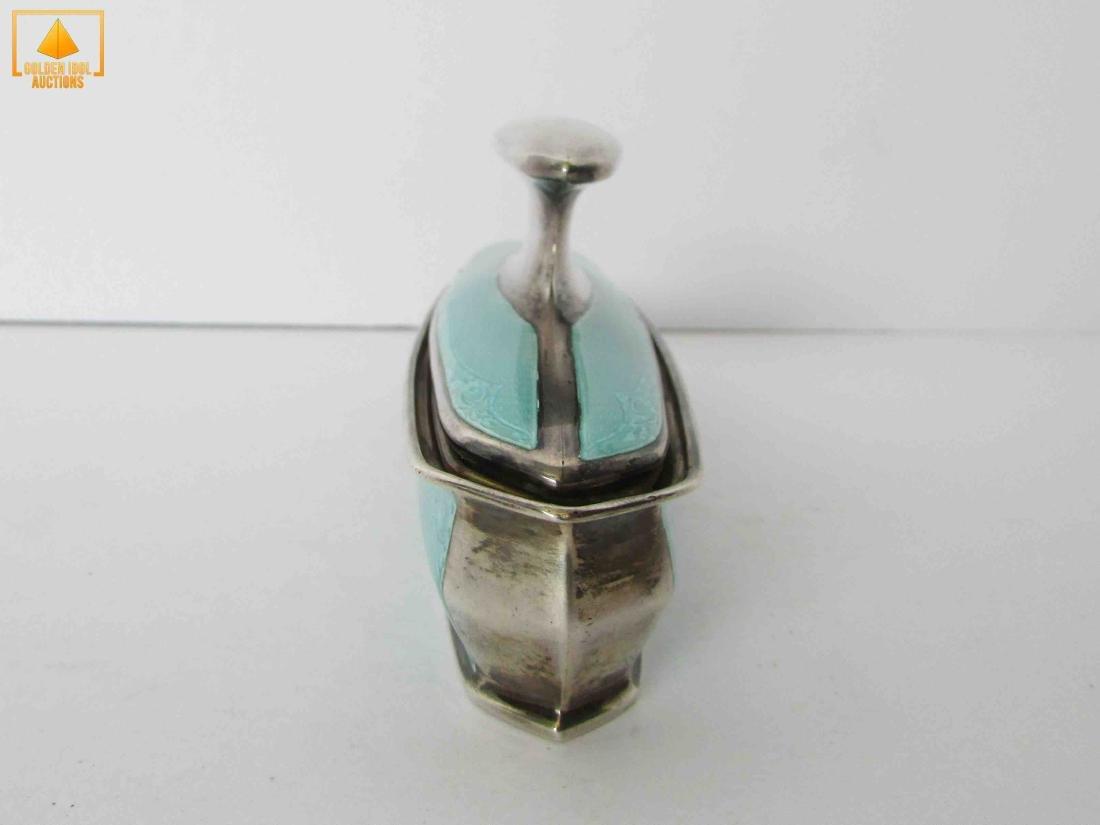 English enamel and silver buffer - 3