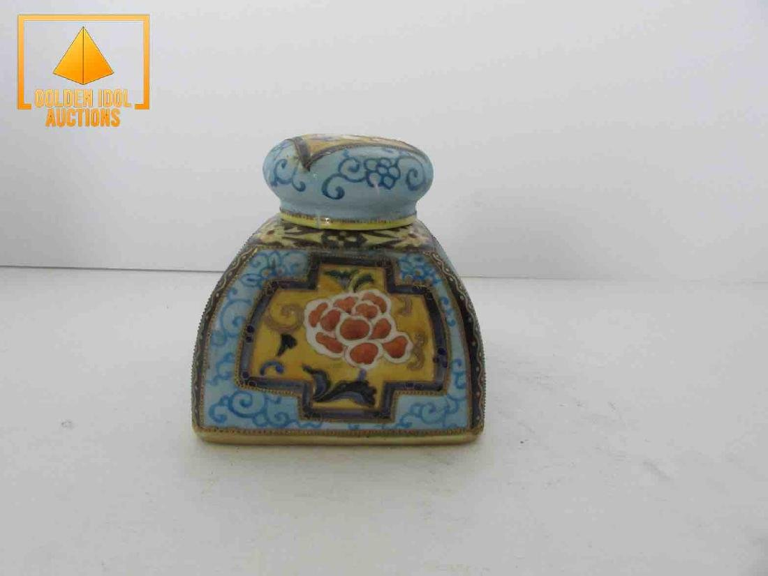 Antique handpainted nippon inkwell