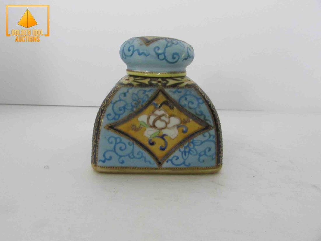 Antique handpainted nippon inkwell - 2