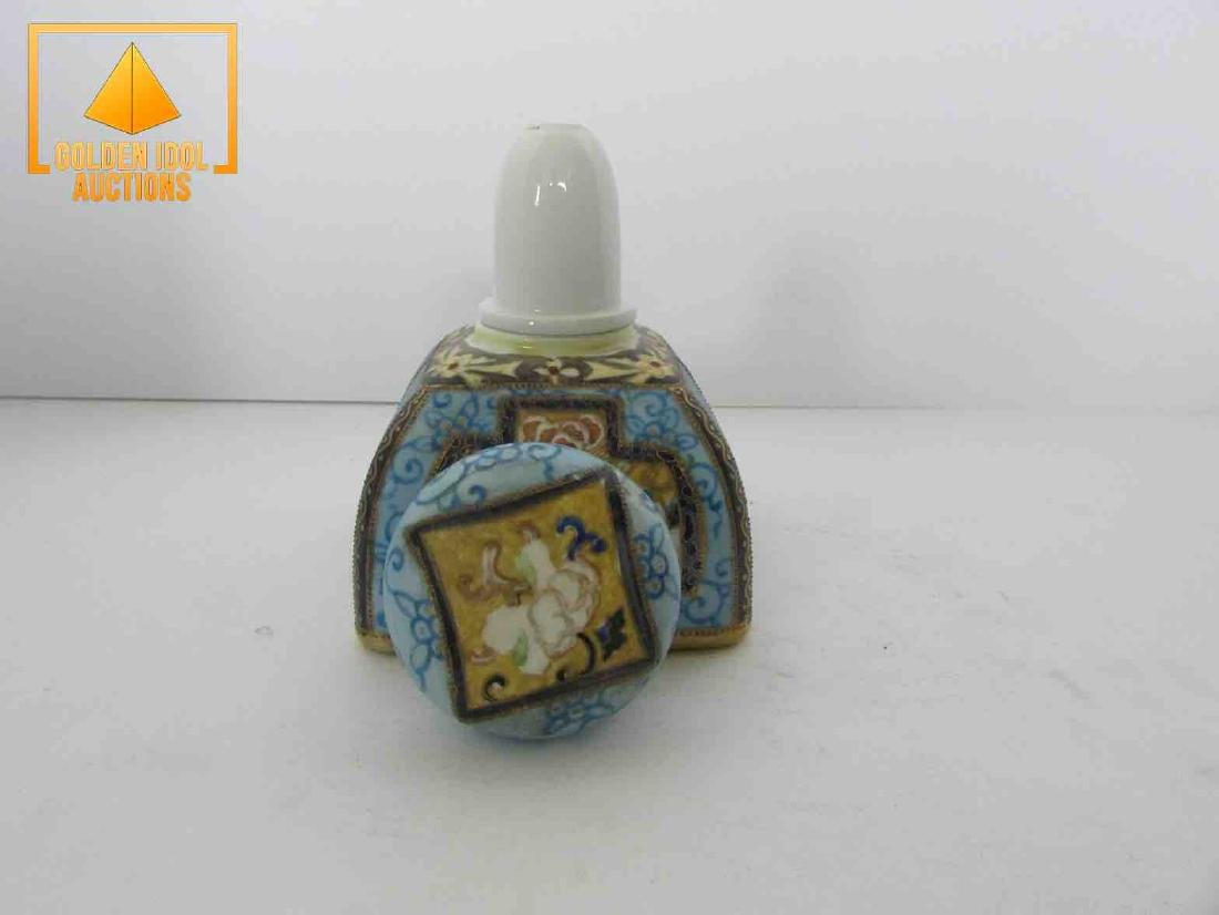 Antique handpainted nippon inkwell - 4