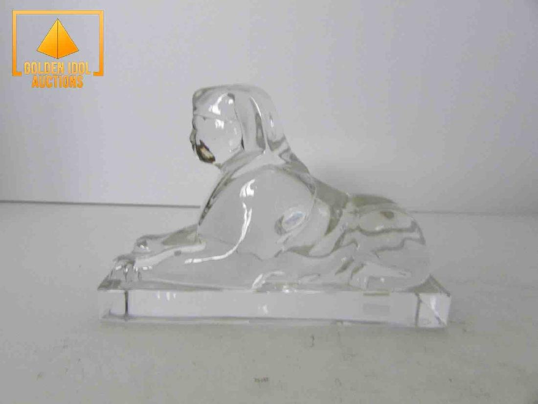 Signed baccarat sphinx