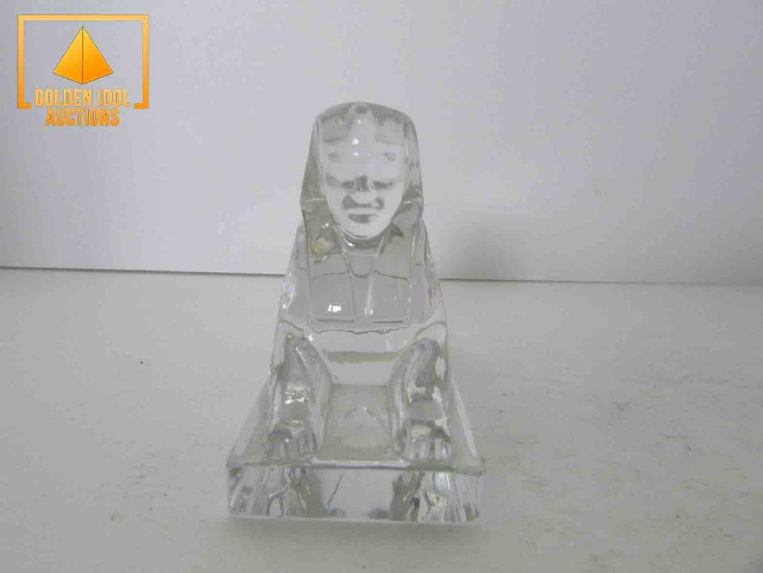 Signed baccarat sphinx - 2