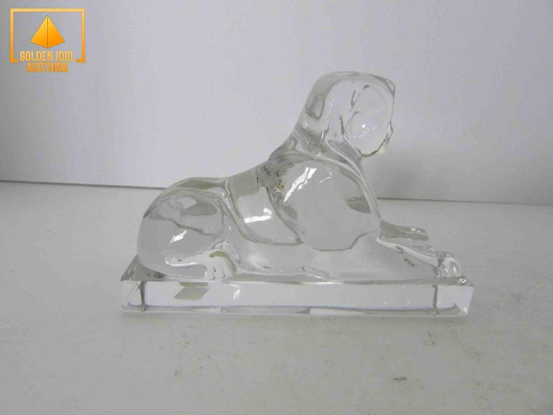 Signed baccarat sphinx - 3