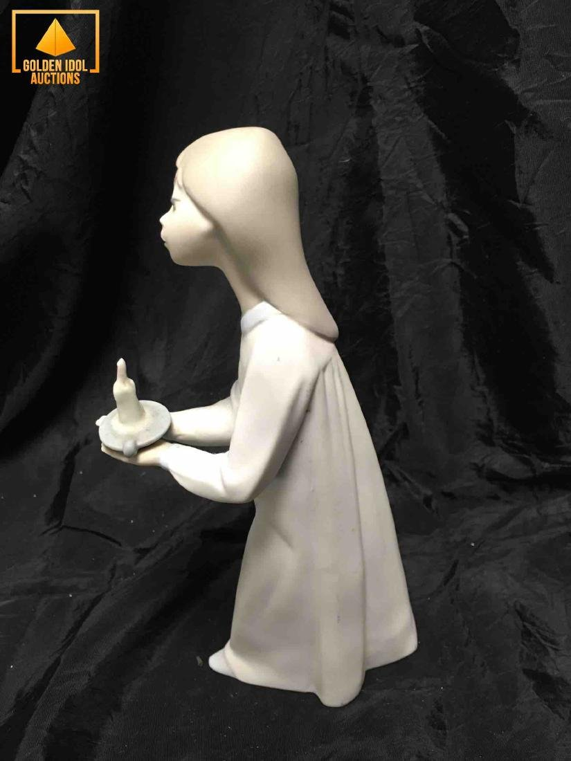 Lladro girl figurine in pajamas with a candle. - 2