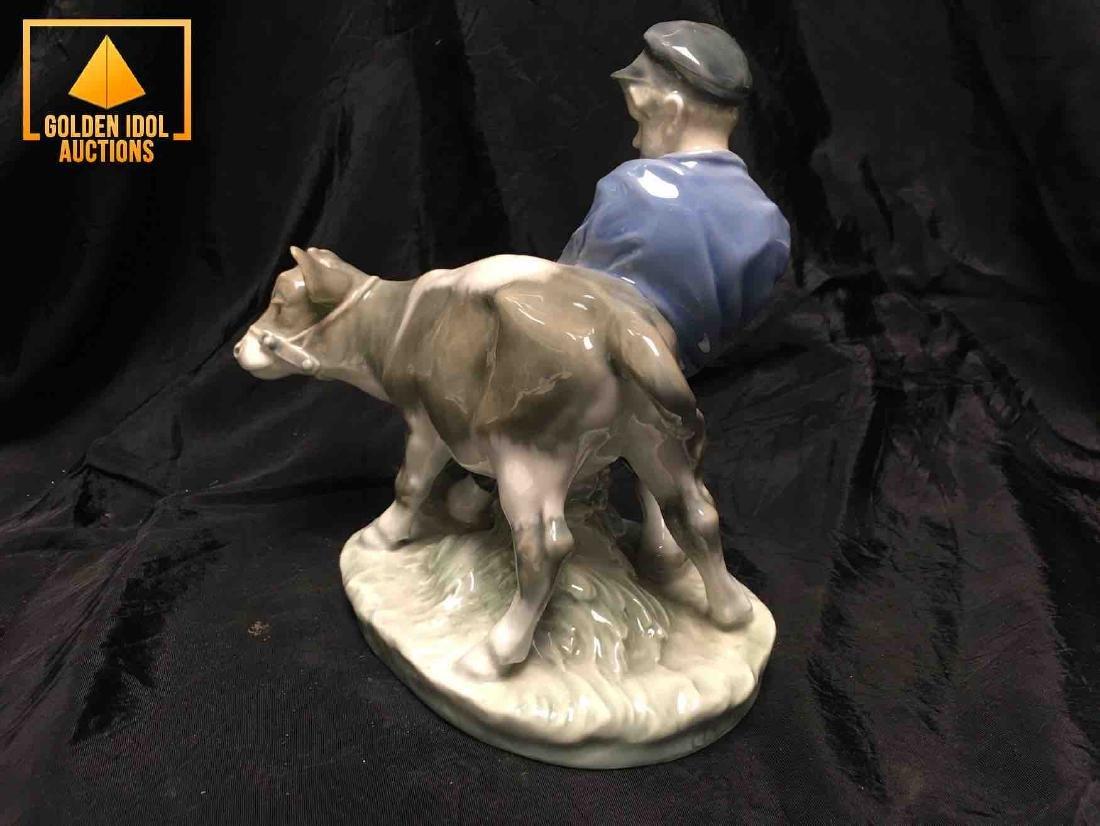 B&G Porcelain figurine - Boy With Calf - 2