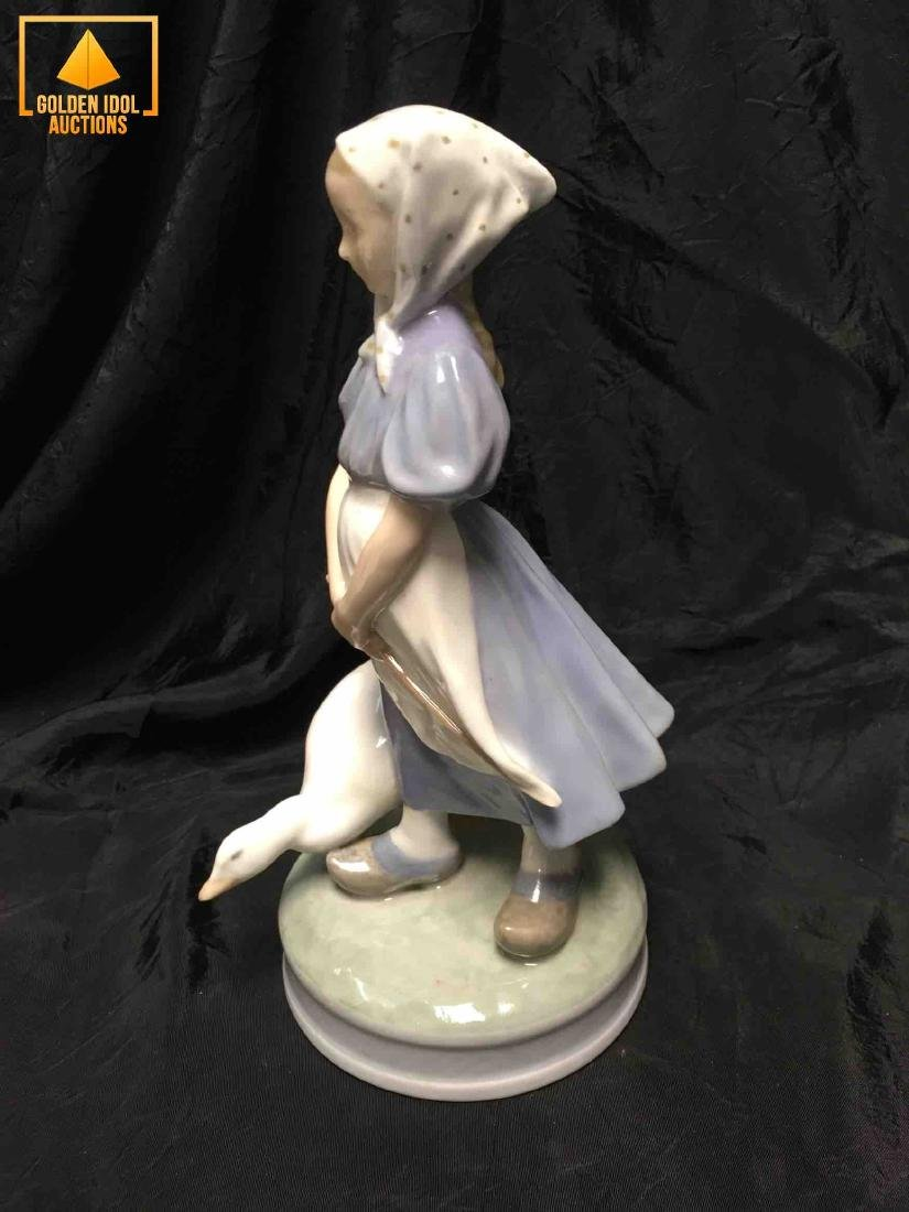 "Royal Copenhagen ""Girl With Goose"" Figurine - 4"