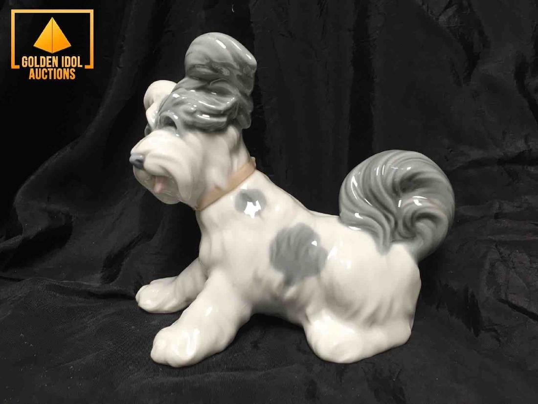 Lladro Porcelain figurine of a Terrier Dog.