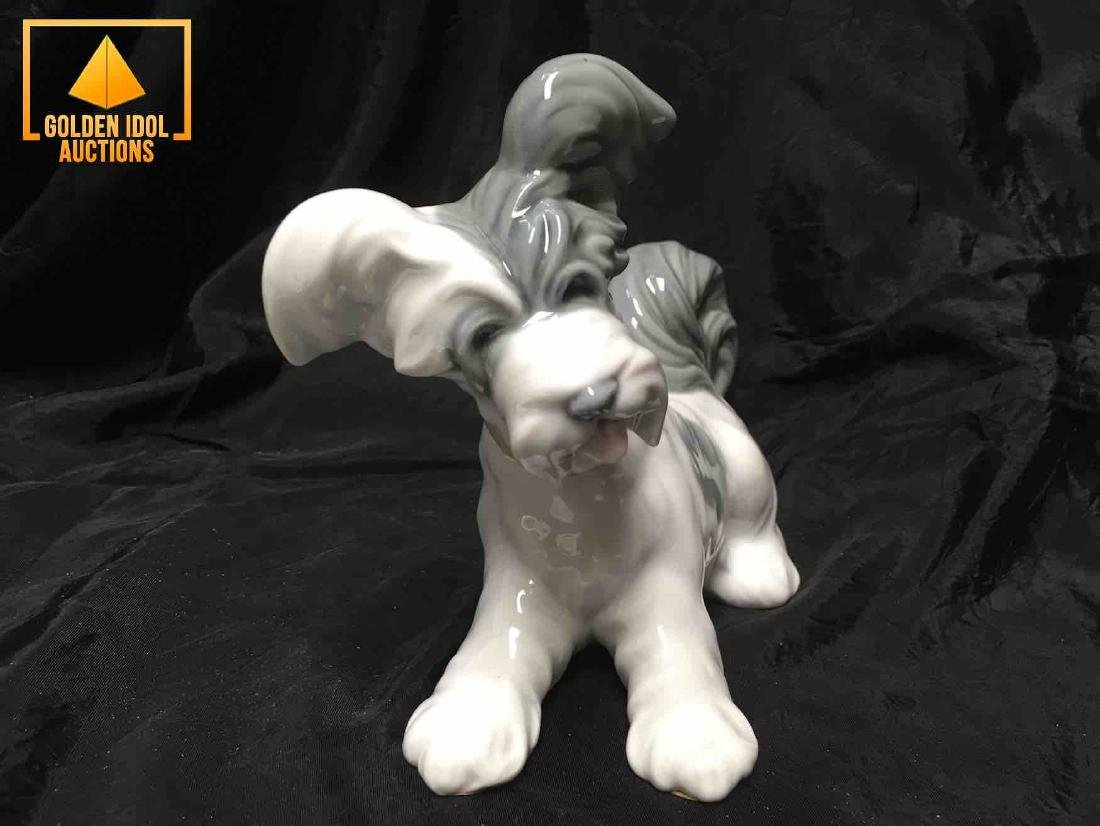 Lladro Porcelain figurine of a Terrier Dog. - 3
