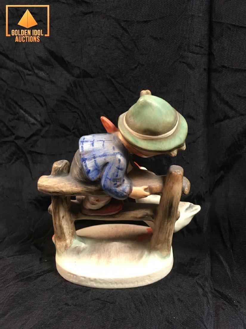 Hummel Figurine - Boy on fence with duck - 3