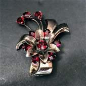 Sterling Silver gemstone Brooch