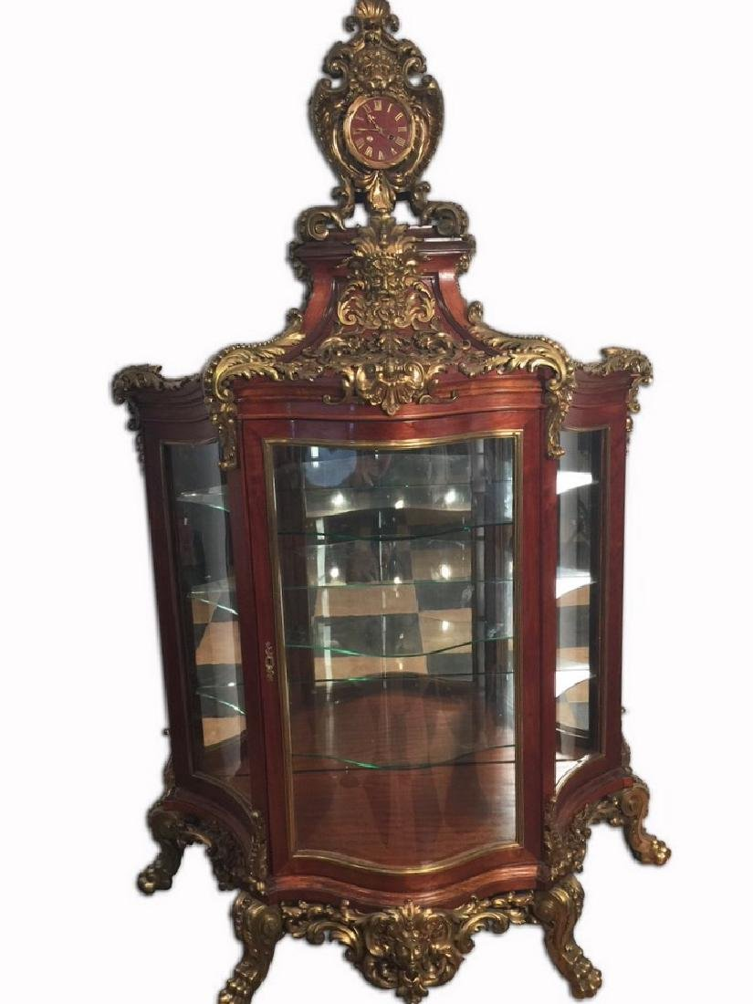 Spectacular One of a Kind, 19th C. French Custom Curio