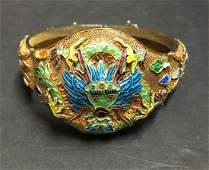 Vintage Chinese SterlingSilver Filigree Enameled