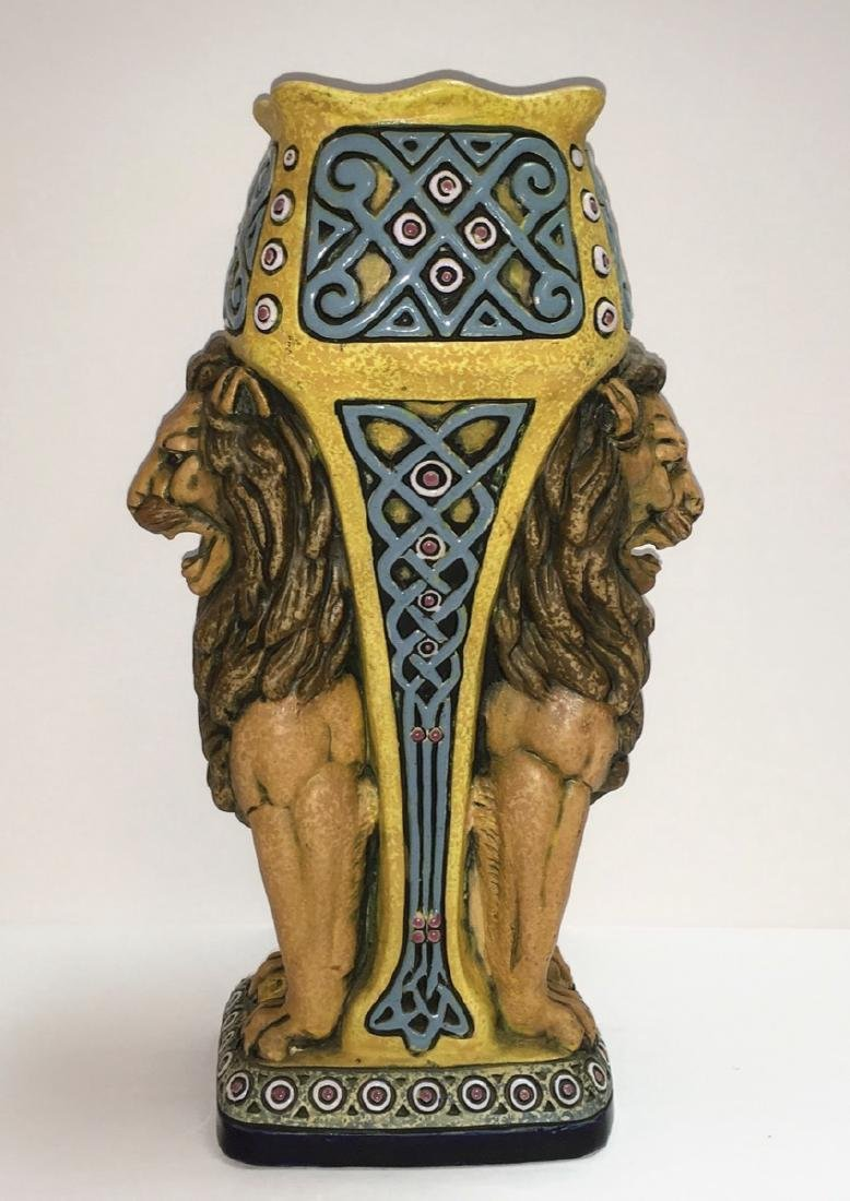 Unique and Amazing Amphora Pottery Art Nouveau Figural