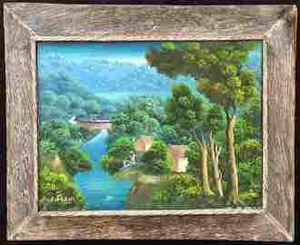 Charles Dufranc (Born 1948 ) Haiti Painting