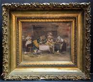 19 th Century French Paintings Illegibly signed