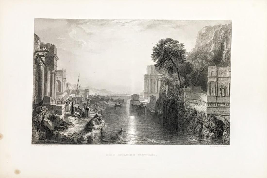 19th Century Engraving, Dido Building Carthage.