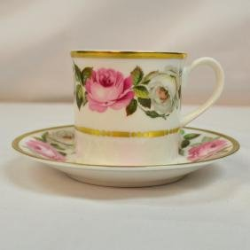 Royal Worcester Antique Bone China Coffee Cup And