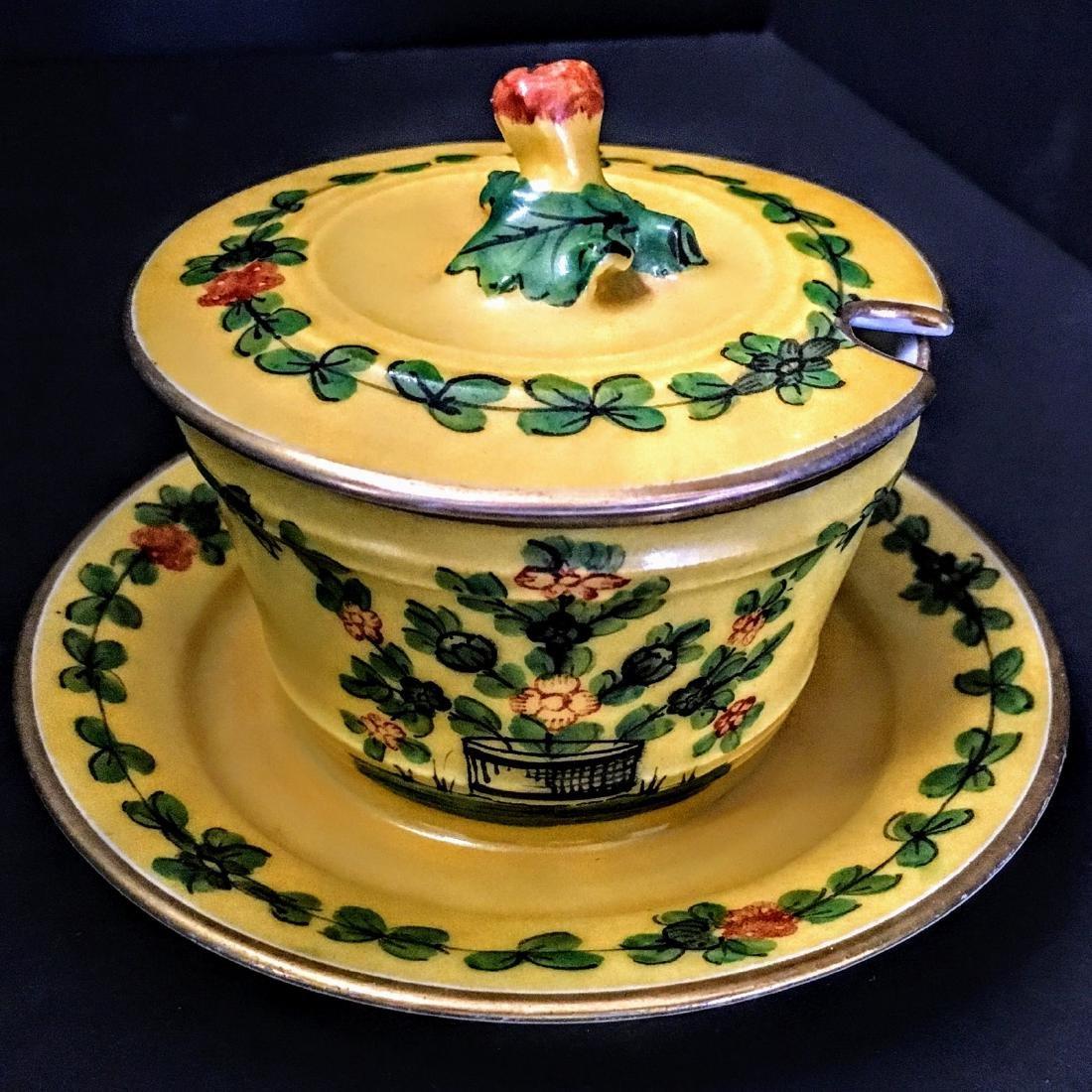 Antique French  Delvaux Pot de Creme Cup