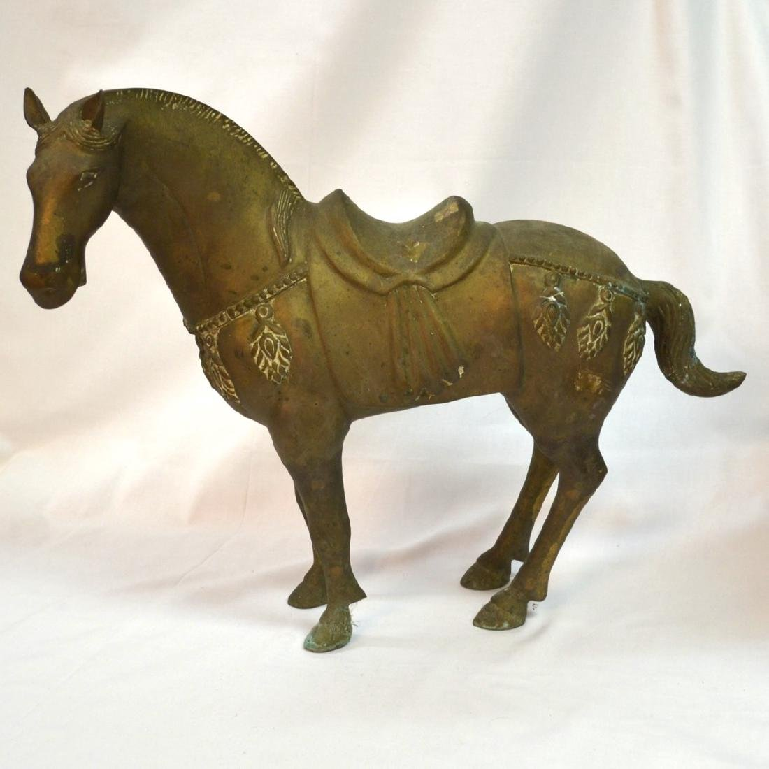 Vintage Rare Chinese old bronze carved Horse Sculpture