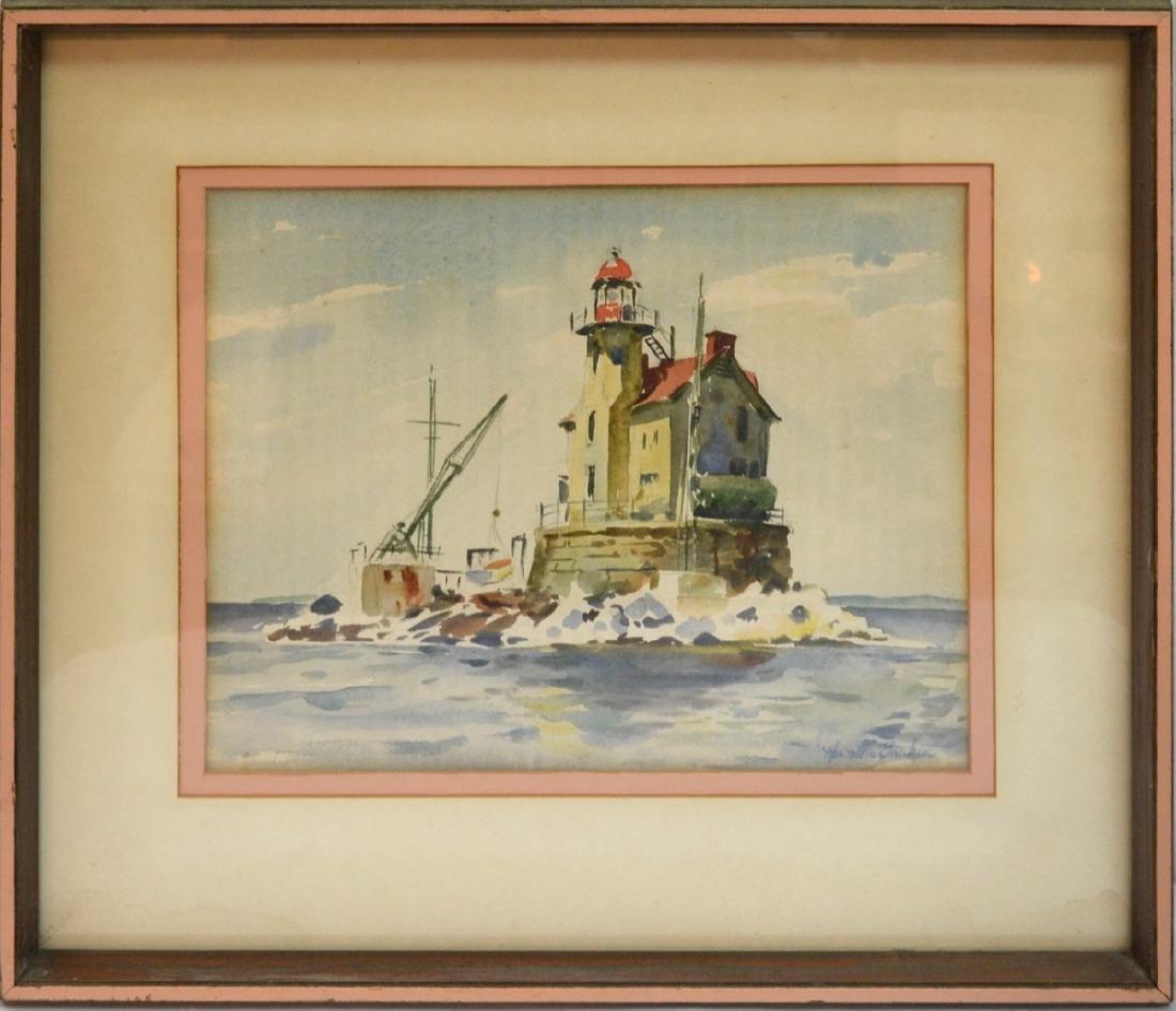 Original  Framed Watercolor, illegible signature,